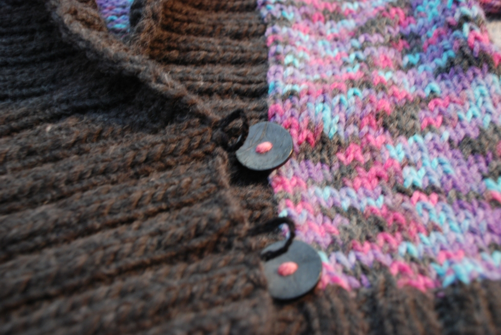 Detail of the button loops.